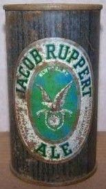 Jacob Ruppert Ale Flat Top Beer Can