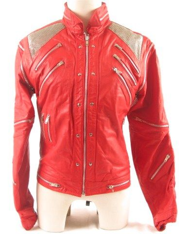 J Palo TMichael Jackson Beat It Red Leather Coat Front View