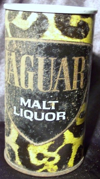 Jaguar Malt Liquor Flat Top  Steel Beer Can