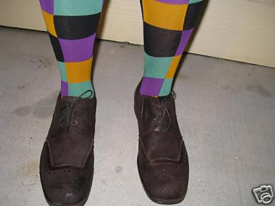 Joker Costume Socks with Shoes Shown