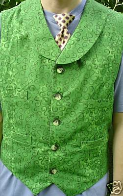 Joker Green Button Vest front