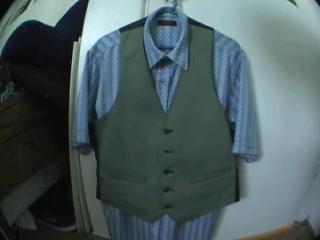 Joker Green Vest and Hexagon Shirt
