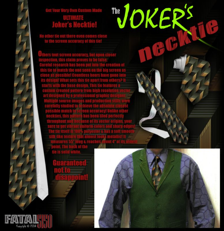 Joker Green Vest Tie Hexagon Shirt