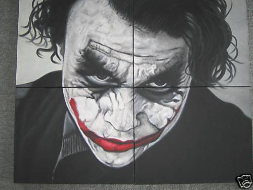 Joker Heath Abstract Painting
