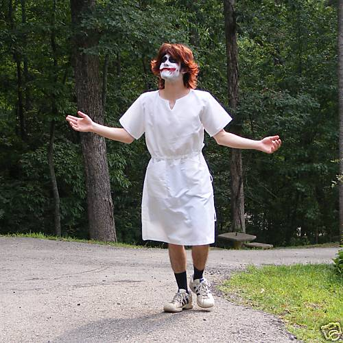 Joker Heath Nurse Costume with Wig