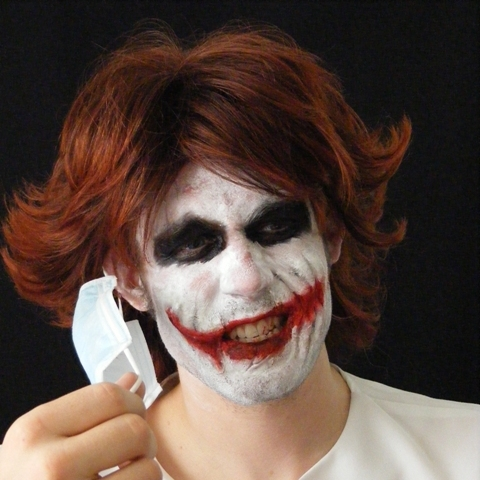 Joker Heath Nurse Wig