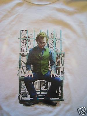 Joker Heath T Shirt Sitting in Jail