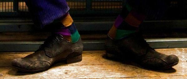 Joker Socks Seen With Shoes
