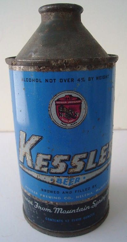 Vintage Kessler Beer Cone Top Can