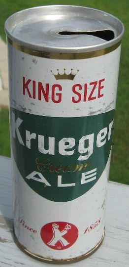 Krueger Cream Ale 16oz Zip Top Beer Can