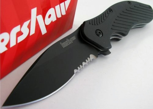 Kershaw Black Clash/Flipper Assisted Opening/Combo Edge/Opened View