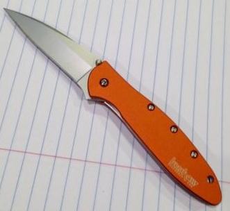 Kershaw Leek Folder Knife/Designed by Ken Onion/Burnt Orange