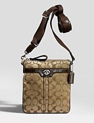 Khaki Signature Swingpack Purse