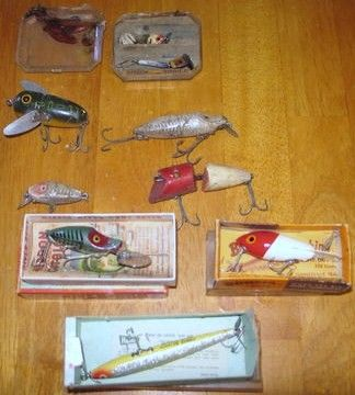 Large Vintage Lot Heddon Fishing Lures