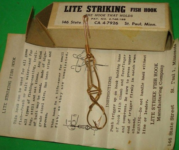Lite Strike Spring Trap Fish Hook w/Box