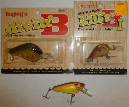 Lot of 3 Bagley Fishing Lures New in Package