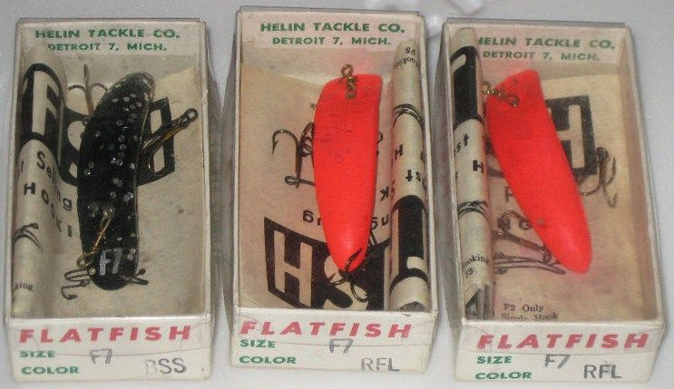 Lot of 3 Helin Flatfish F7 BSS Plastic Crankbait