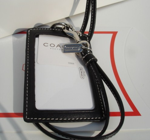Leather Neck Lanyard ID Card Holder