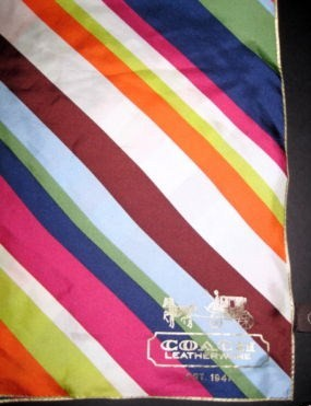 Legacy Abstract Stripe Multicolor Silk Scarf 98338