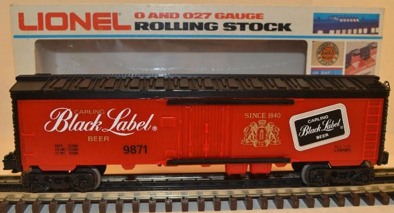 Lionel #9871 Carlings Black Label Beer Reefer w/Box