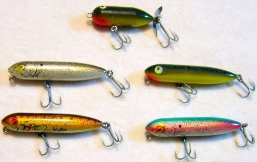 Lot of 5 Heddon Ultralight Zara Pooch Torpedo Bass Crankbait