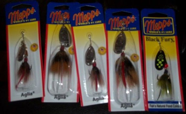 Lot of 5 New Mepps Fishing Lures Spinners/Assorted