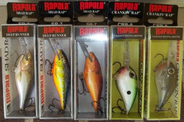Lot of 5 Rapala Lures New in Box