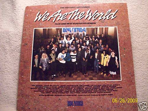 Michael Jackson 1985 LP We are the world USA Africa LP Cover