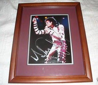 Michael Jackson autograph framed picture COA