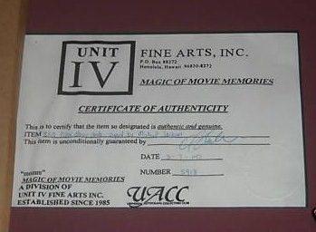 Michael Jackson autograph framed pic COA up close