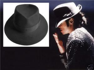 Michael Jackson Black Fedora Hat