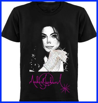 Michael Jackson Forever Retro Shirt with Glitter Glove
