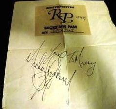 Michael Jackson Signed Autograph 1979 Back Stage Pass