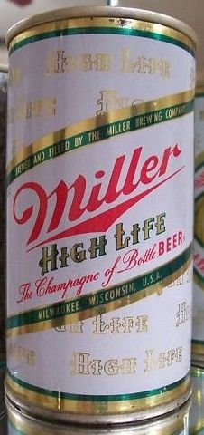 Vintage Miller Girl on Moon Zip Top Pull Tab Beer Can