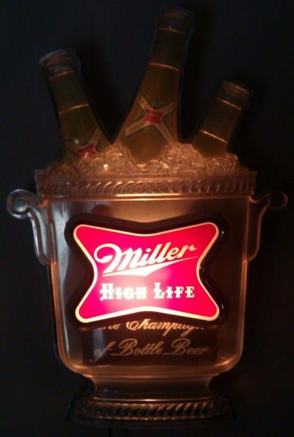 Miller High Life Champagne of Beers Lighted Sign