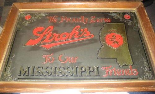 Mississippi Strohs Beer State Mirror