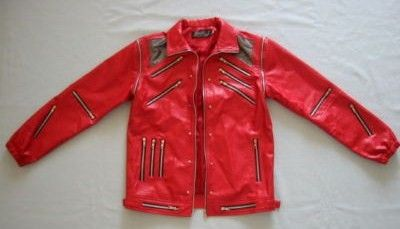 Red Leather Beat It Jacket