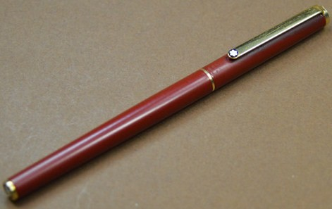 Montblanc Noblesse Slimline Red Gold Fountain Pen 1980's