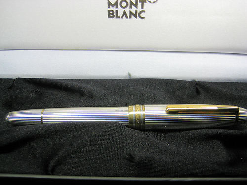 Montblanc Solitaire Meisterstuck 146 Sterling Silver Fountain Pen