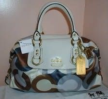 COACH Madison Graphic OP Art Sabrina Satchel Purse