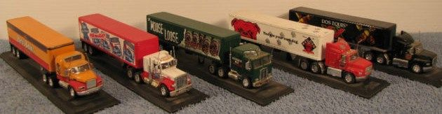Matchbox Trucks/ Honey Brown-Red Dog-DOS-Equis-Moose Head