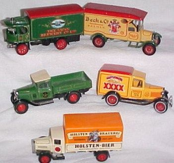Matchbox Lot of 5 Beer Trucks