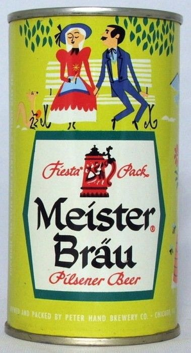 Meister Brau Fiesta Pac Flat Top Beer Can