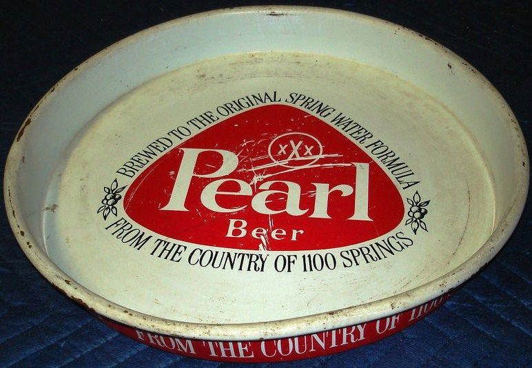 Metal Pearl Beer Tray