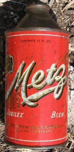 Metz Cone Top Beer Can Omaha, Nebraska