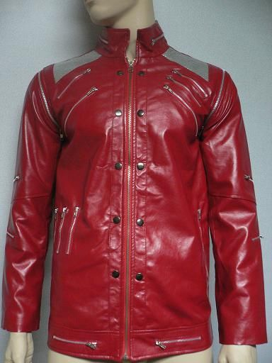 Michael Jackson Beat It Coat Red