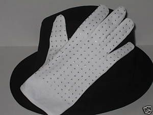 Michael Jackson Black Fedora Hat and Glove