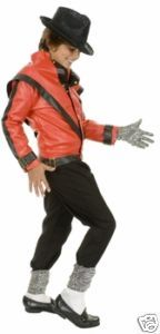 Michael Jackson Kids Thriller Costume, Wig, Glove and Hat