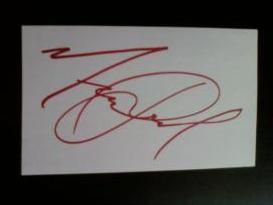 Michael Jackson Original Signed Card