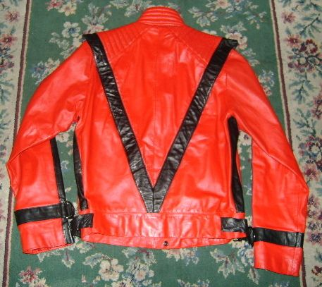 Michael Jackson red Beat It jacket back
